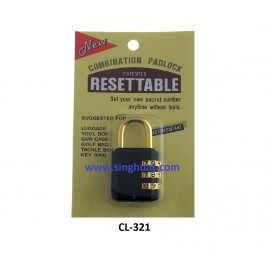 25mm - 3 DIGIT RESETABLE PADLOCK * Images are for illustrative purposes only*