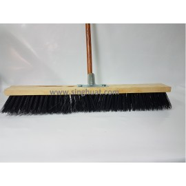 Black PVC Deck Broom With Handle * Images are for illustrative purposes only *