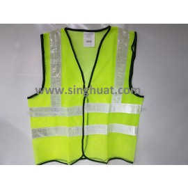 Green Colour Reflective Safety Vest * Images are for illustrative purposes only *