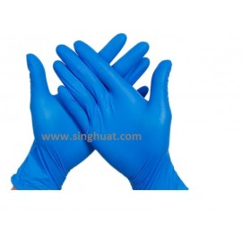 Nitrile Blue Colour Glove - SIZE LARGE * Images are for illustrative purposes only *